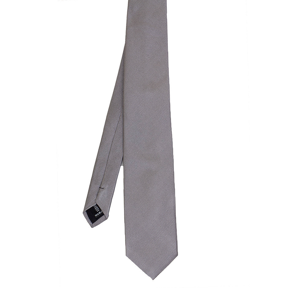Silk Tie for Men in Silver