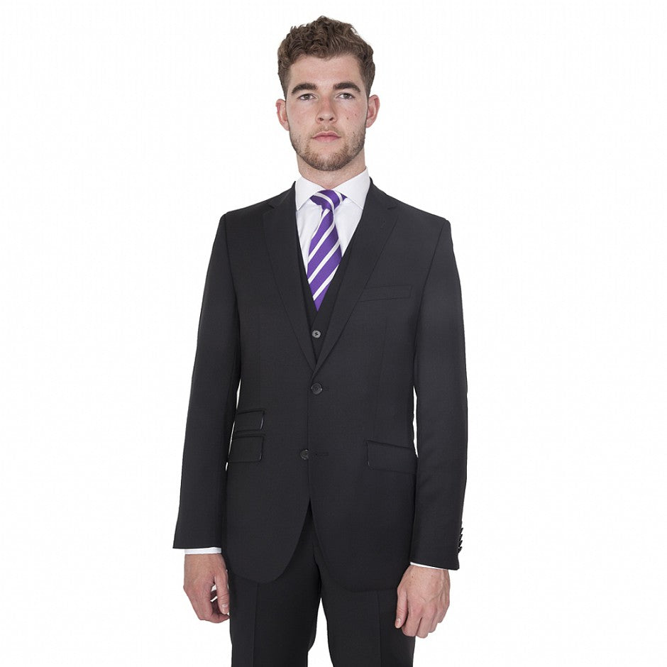 Randolph Wool Suit Jacket & Trousers for Men in Pitch Black