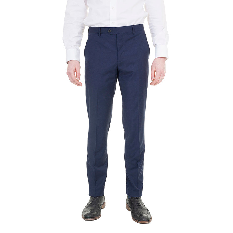 Extra-Slim Suit Trousers for Men in Navy