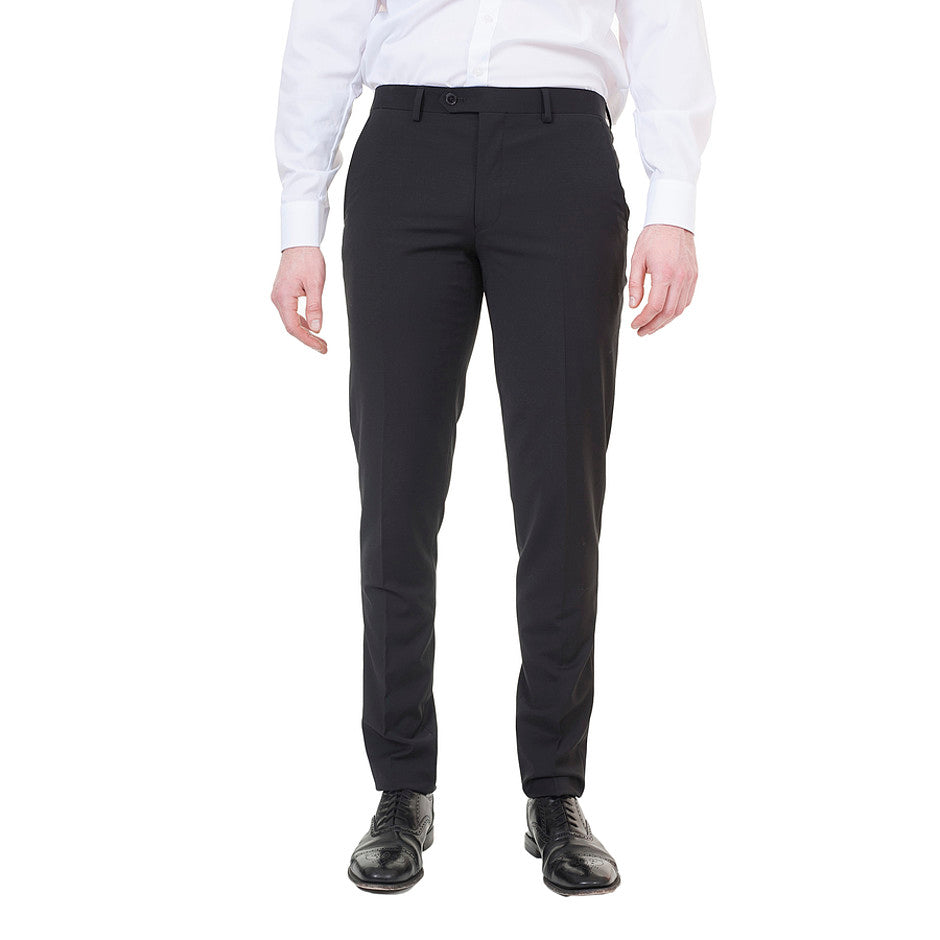 Extra-Slim Suit Trousers for Men in Black
