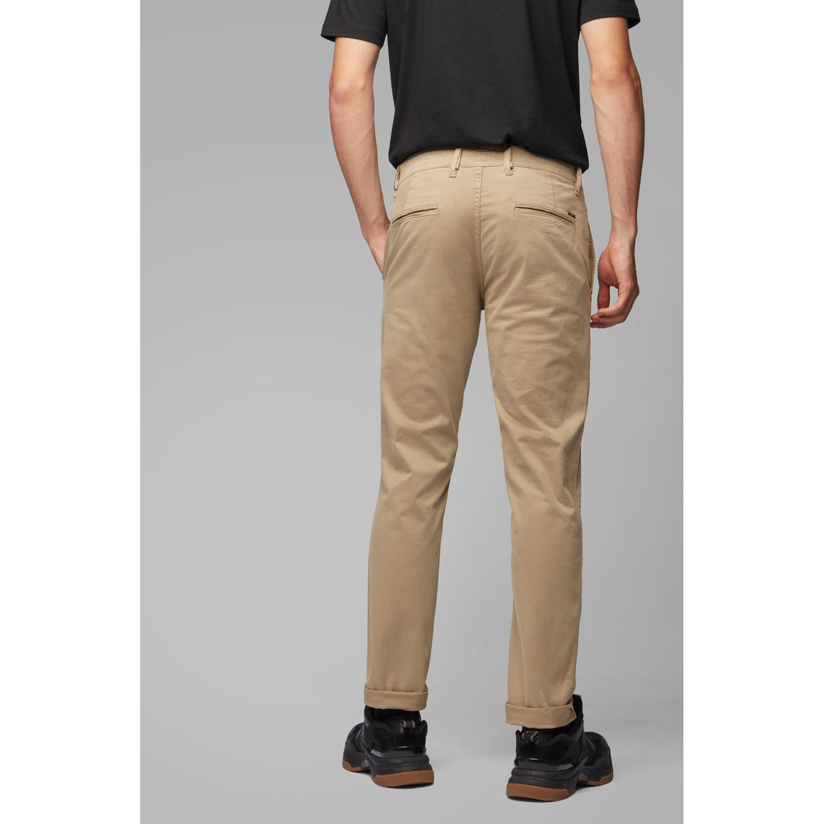 Slim Fit Chinos for Men in Camel
