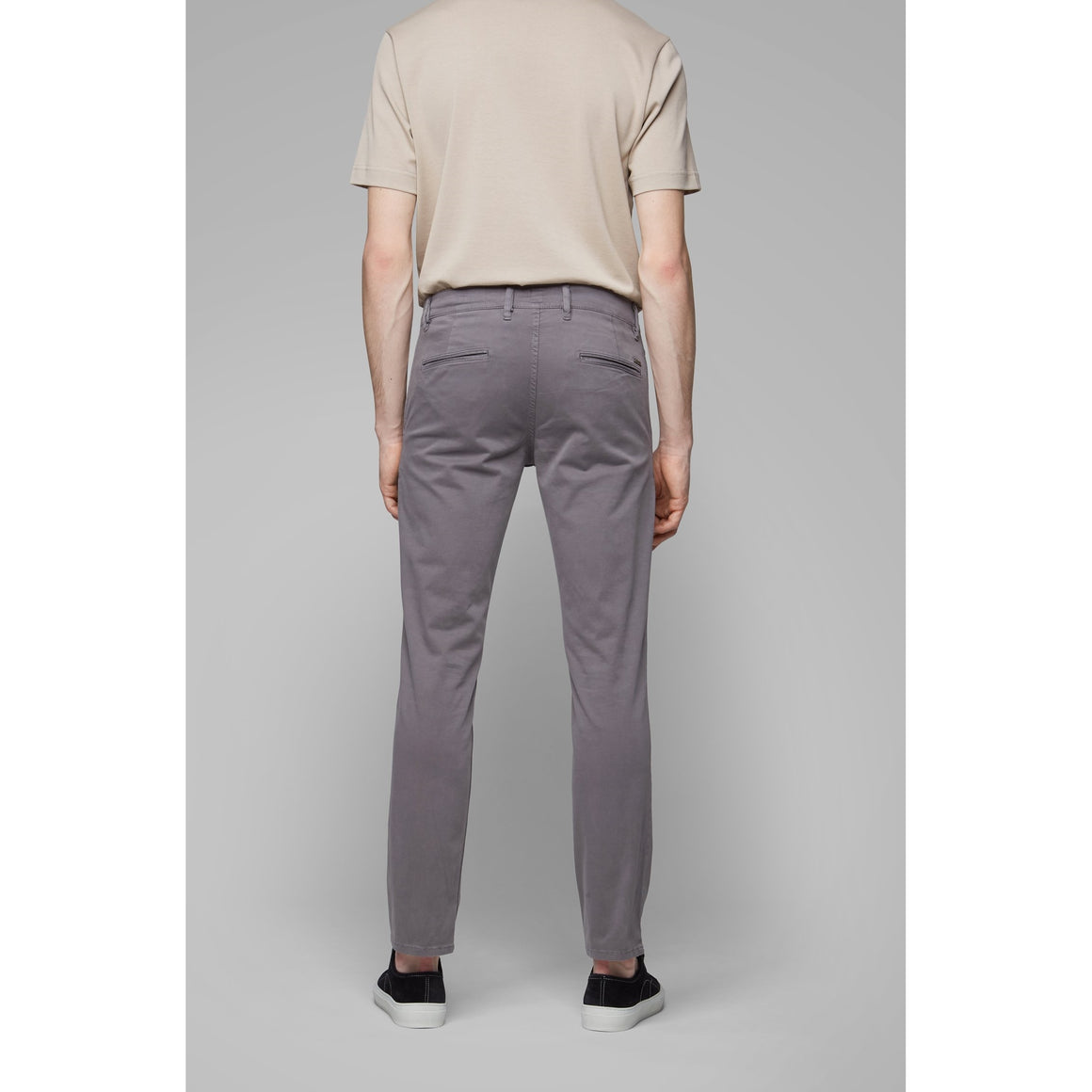 Slim Fit Chinos for Men in Grey