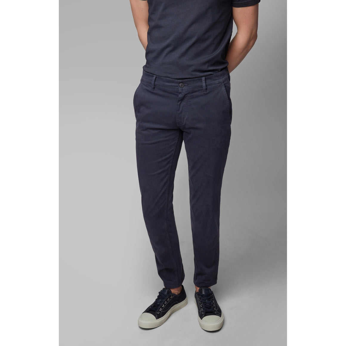 Slim Fit Chinos for Men in Navy