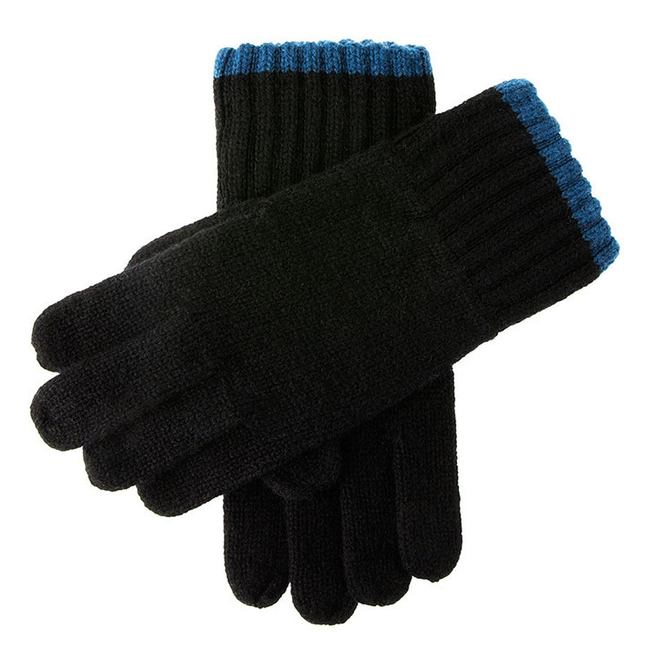 Newburgh Lambswool Knitted Gloves for Men in Charcoal