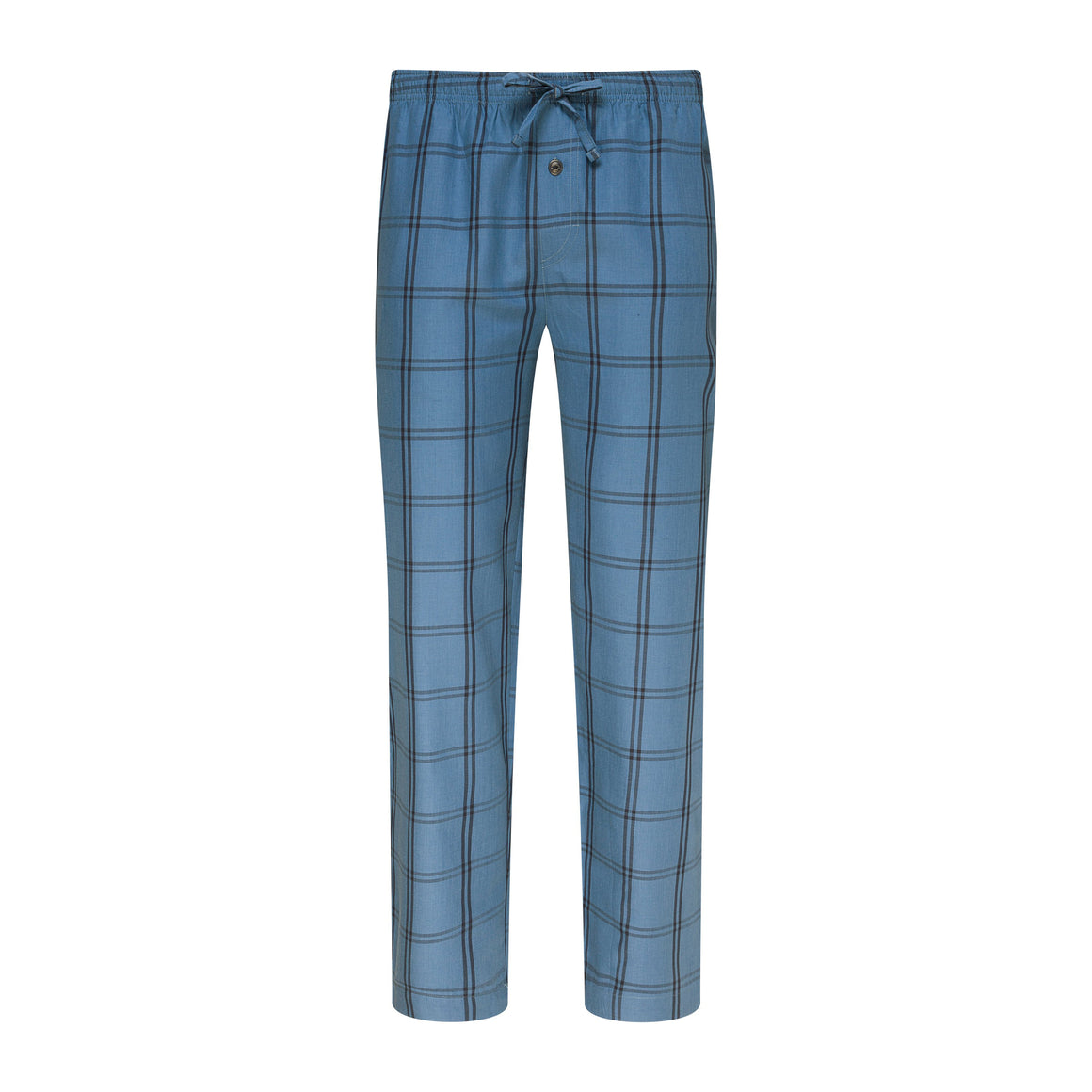 Woven Lounge Pants for Men in Denim