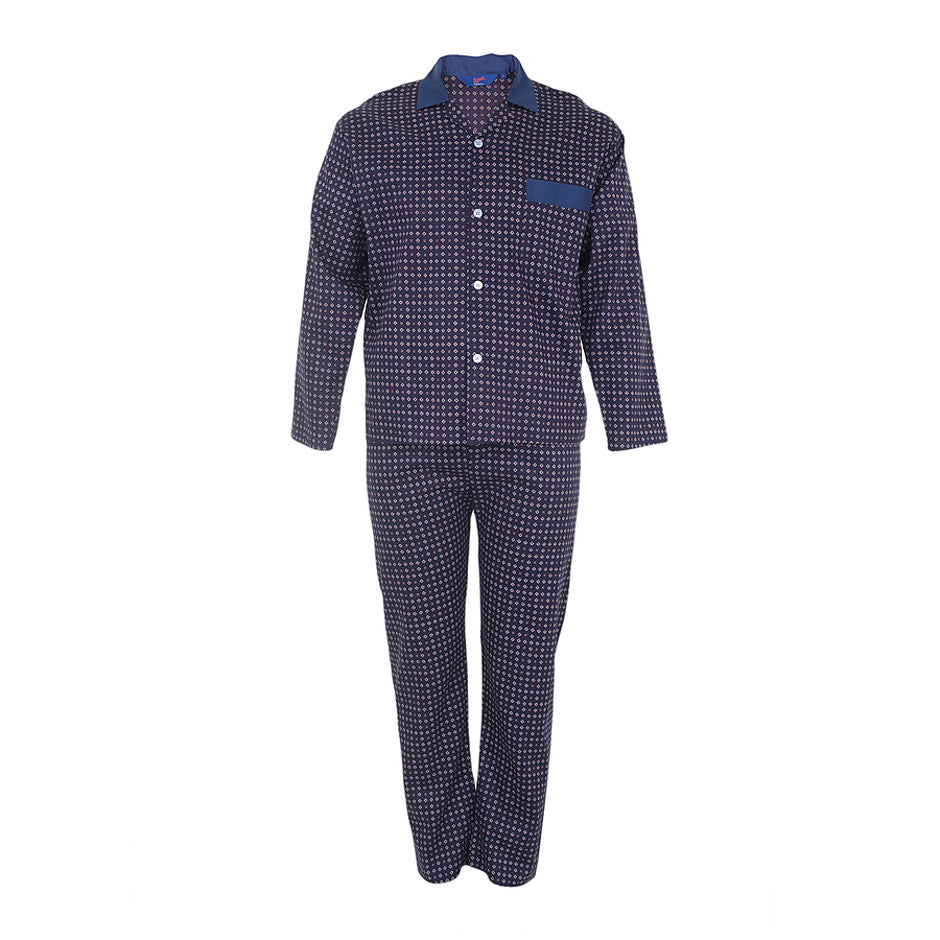 Elasticated Waist Pyjamas for Men in Navy