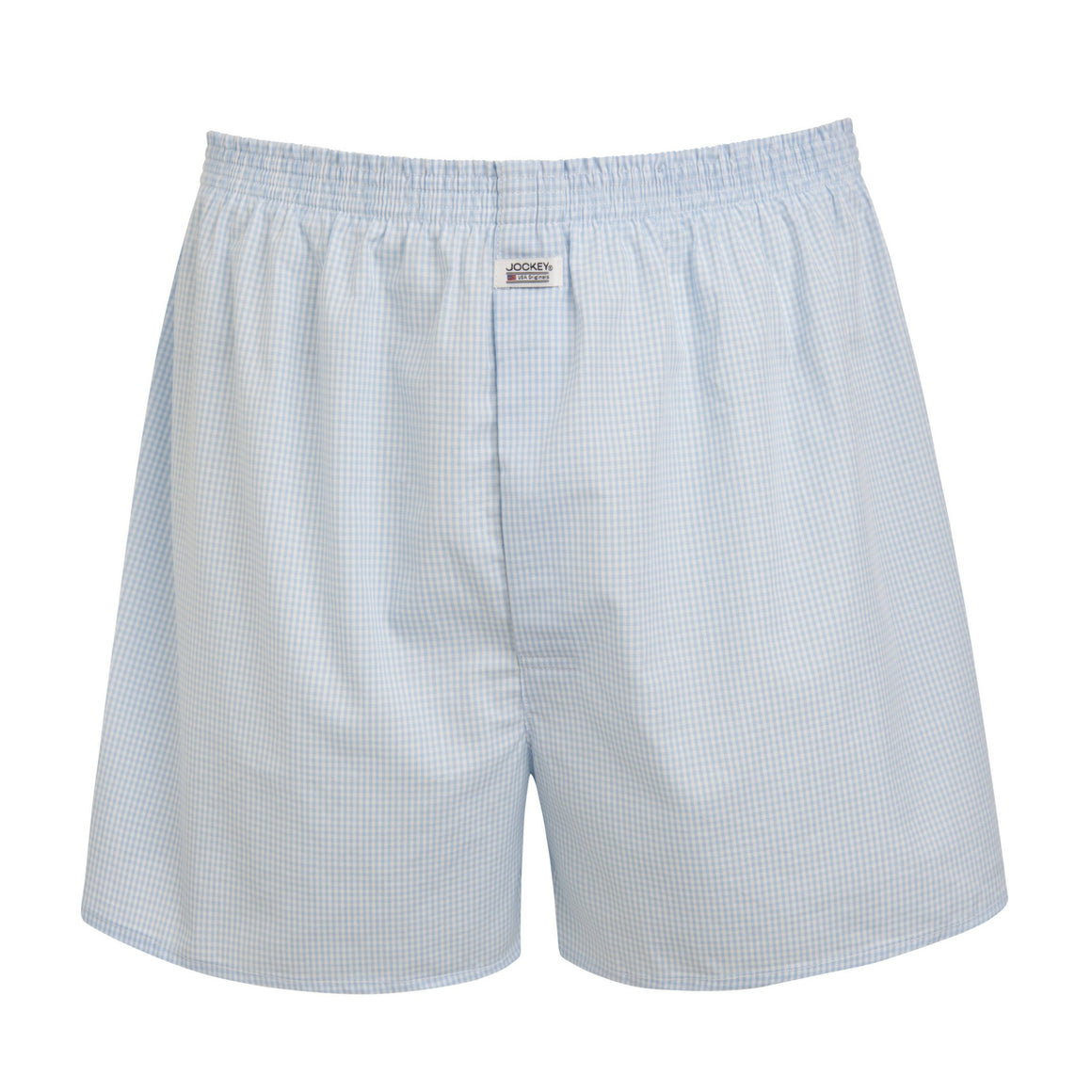 Check Woven Single Boxer Short for Men in Shirting Blue