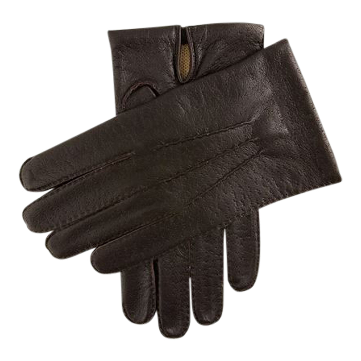 Kent Leather Acrylic Gloves for Men in Brown