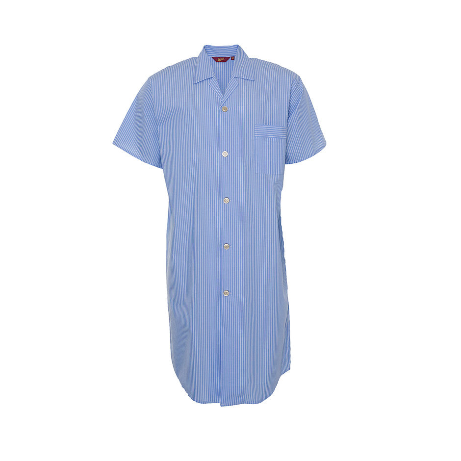 Short sleeved Night Shirt for Men in Sky Blue