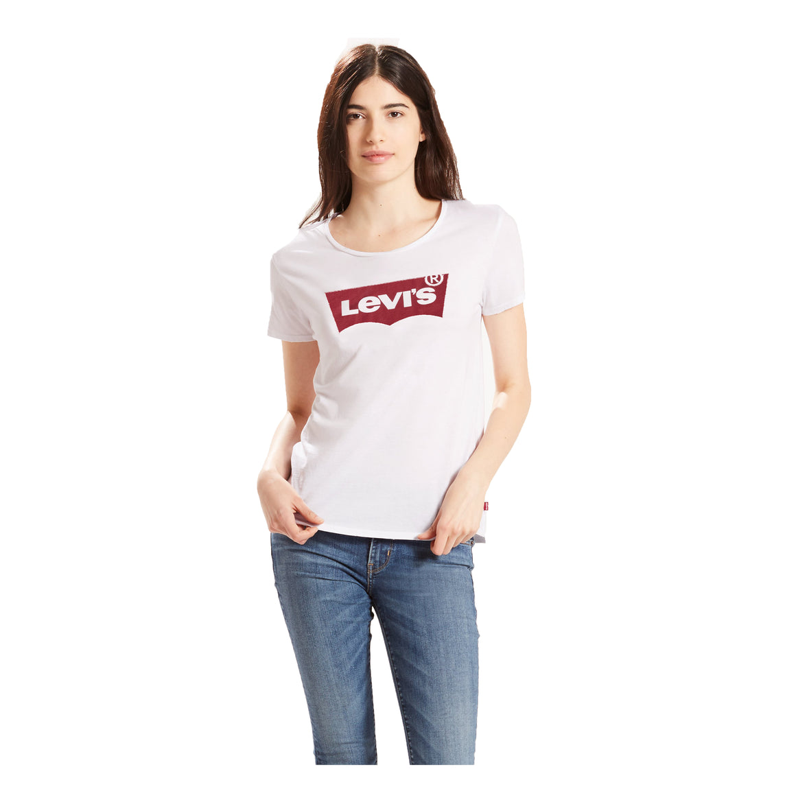Perfect Batwing Tee for Women in White & Red