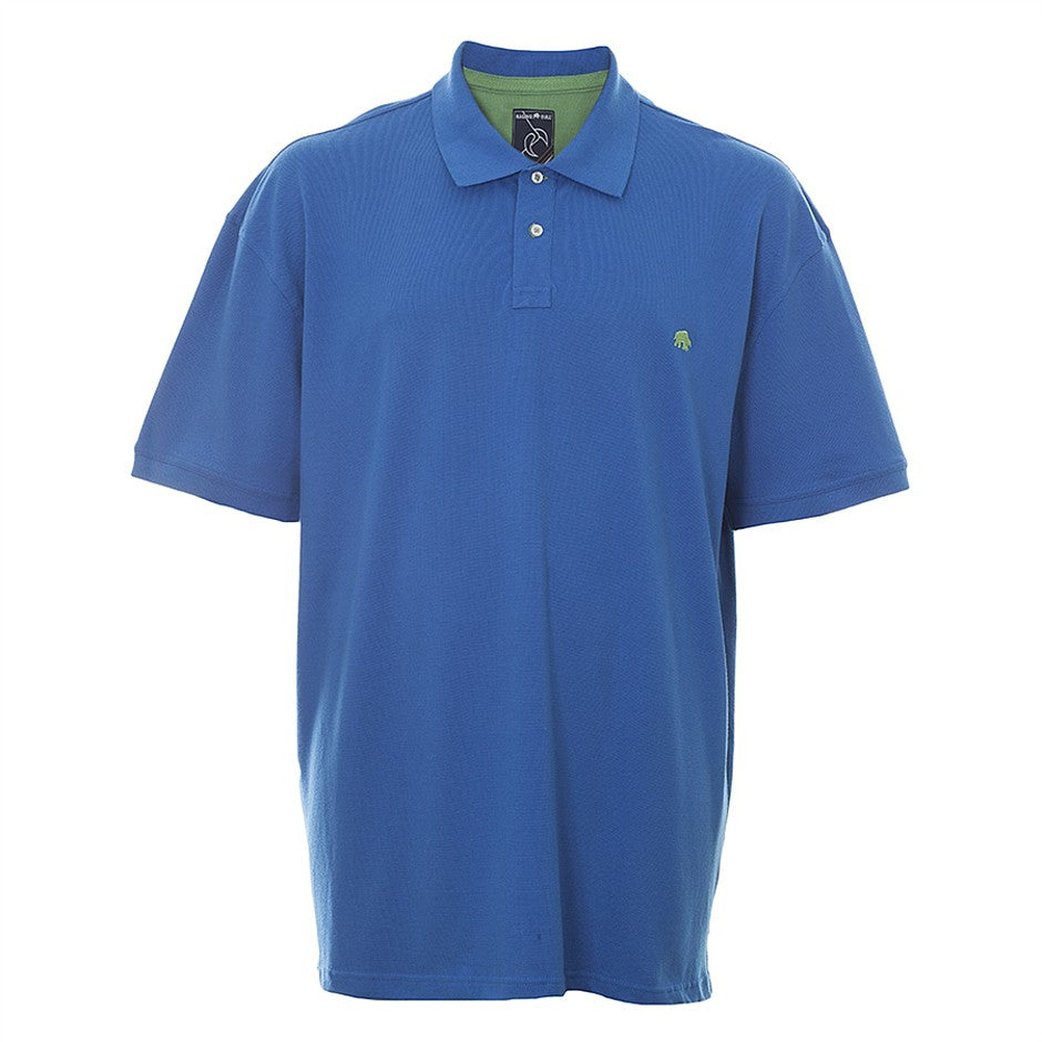 Big & Tall New Signature Polo Shirt for Men in Cobalt