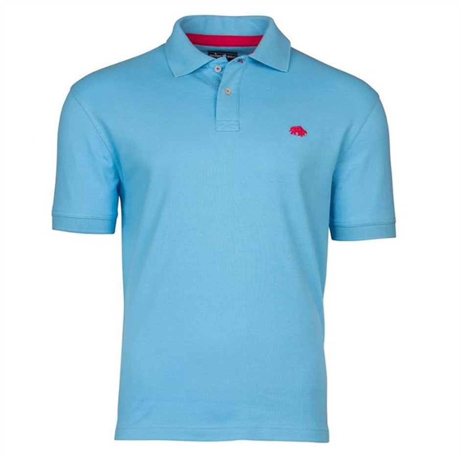 Plain Polo Shirt for Men in Sky Blue