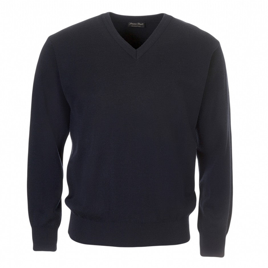 V Neck Pullover for Men in Navy 2XL-6XL Extra Long