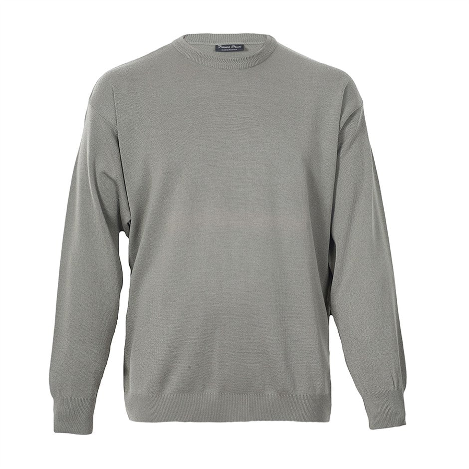 Crew Neck Pullover for Men in Sage 2XL-6XL Extra Long