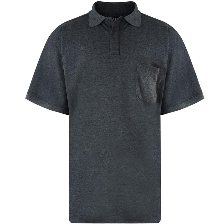 Plain Polo Shirt for Men in Charcoal 2 XL - 8 XL