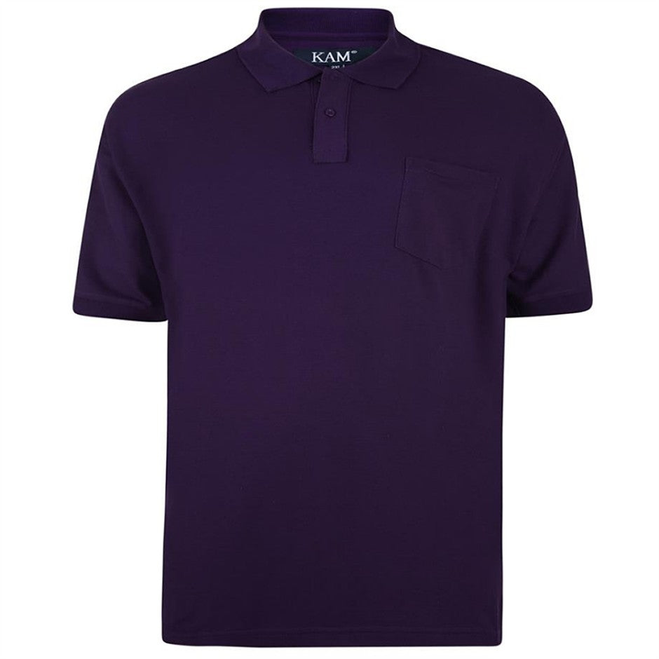 Plain Polo Shirt for Men in Purple 2XL - 8XL