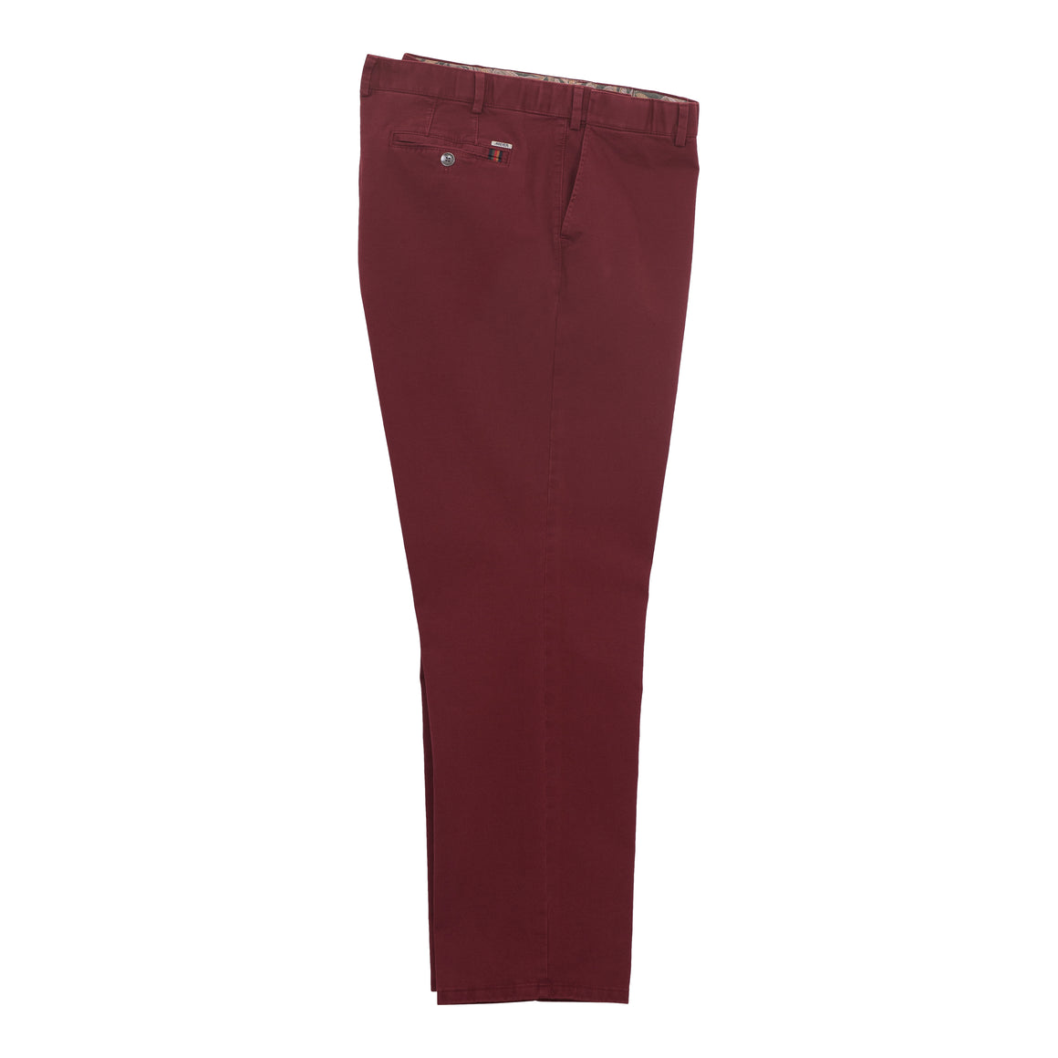 Oslo Chinos for Men in Burgundy
