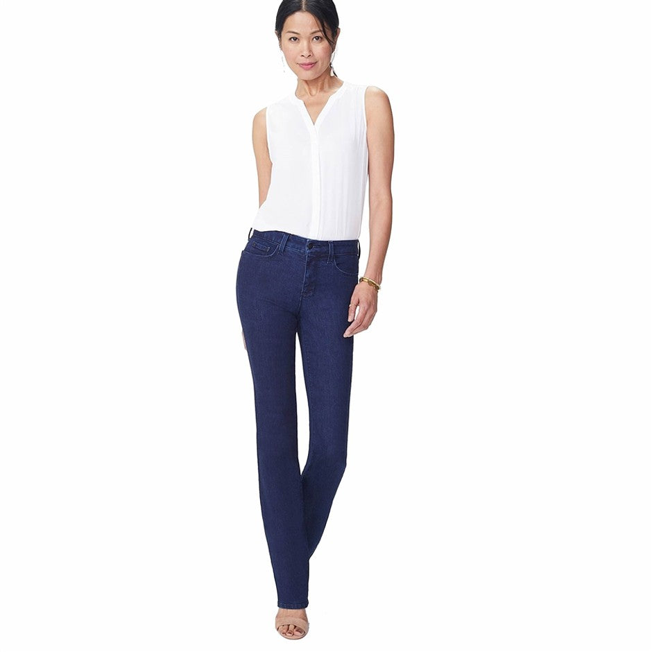 Marilyn Straight Leg Premium Denim Jeans for Women in Dark Blue