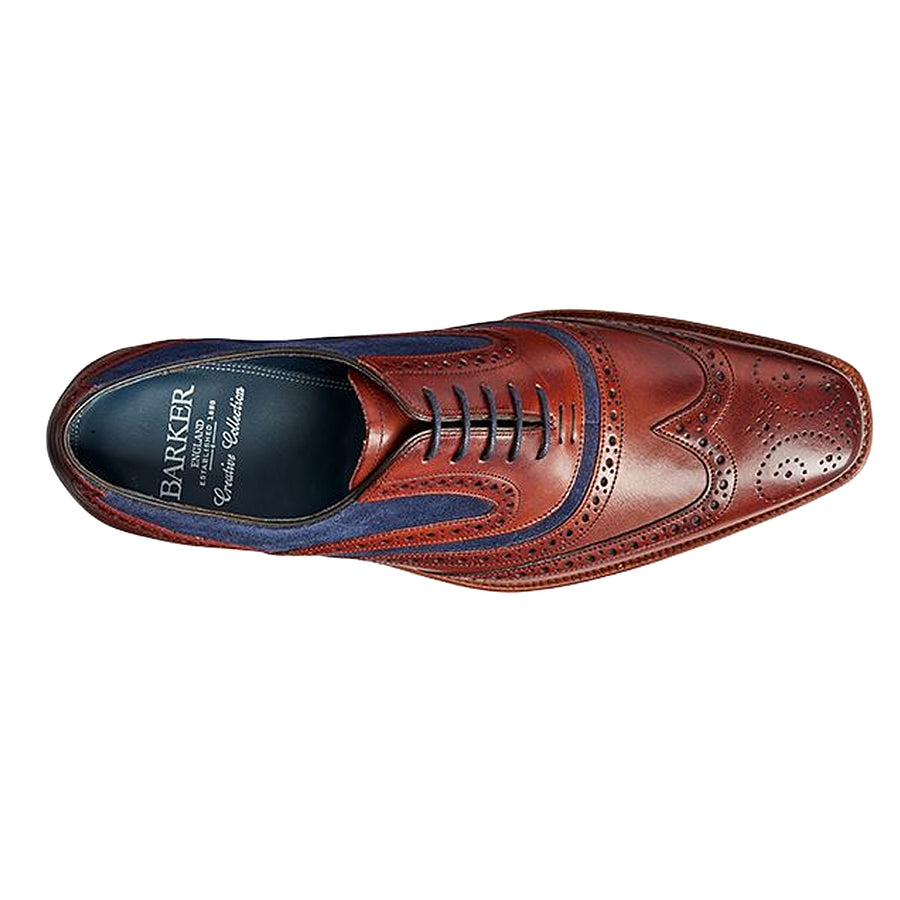 McClean Brogue Shoes for Men in Rosewood and Navy