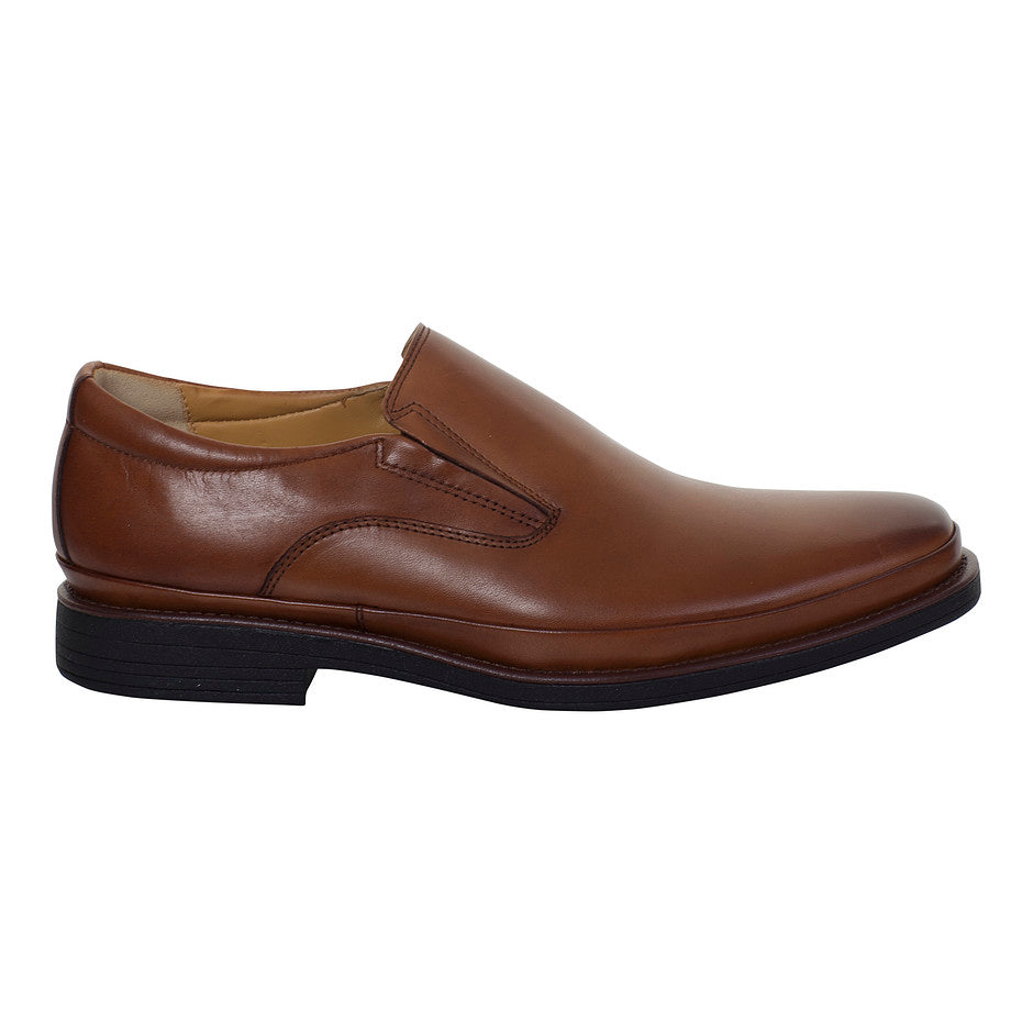 Andrea Slip On Shoes for Men in Cognac Brown