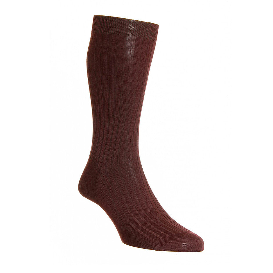 Danvers 5614 Cotton Blend Socks for Men in Burgundy