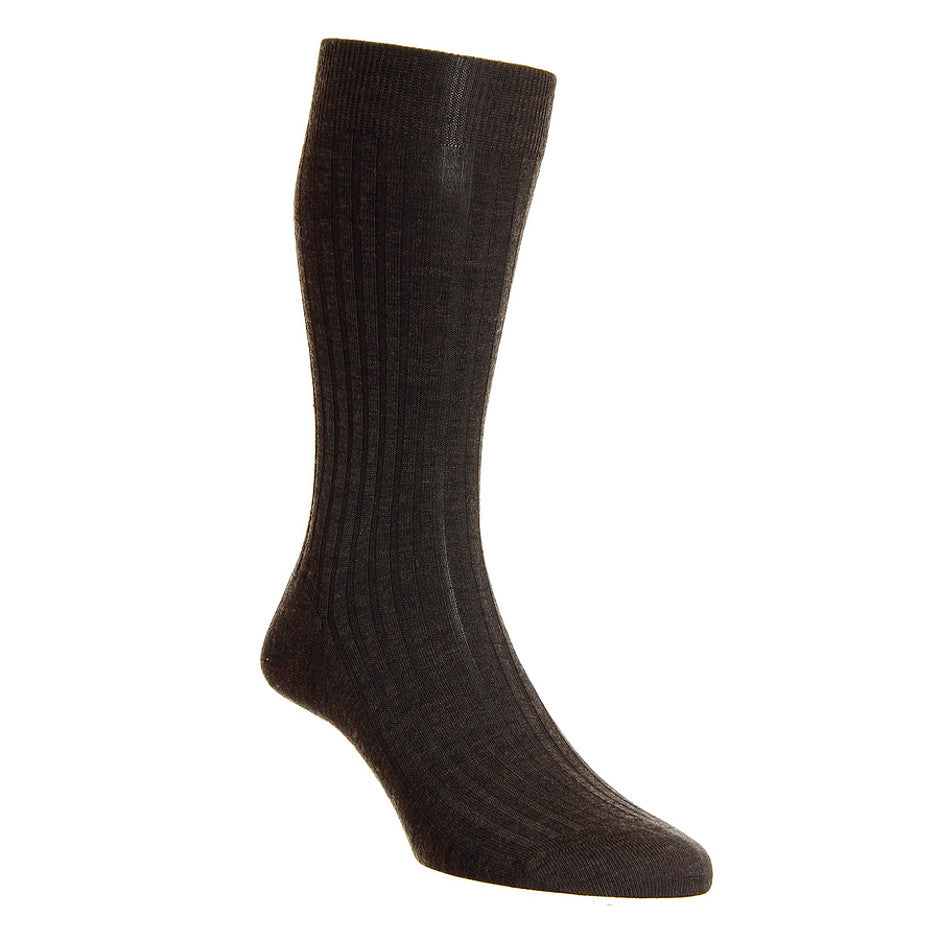 Laburnum 5796 Merino Blend Socks for Men in Brown