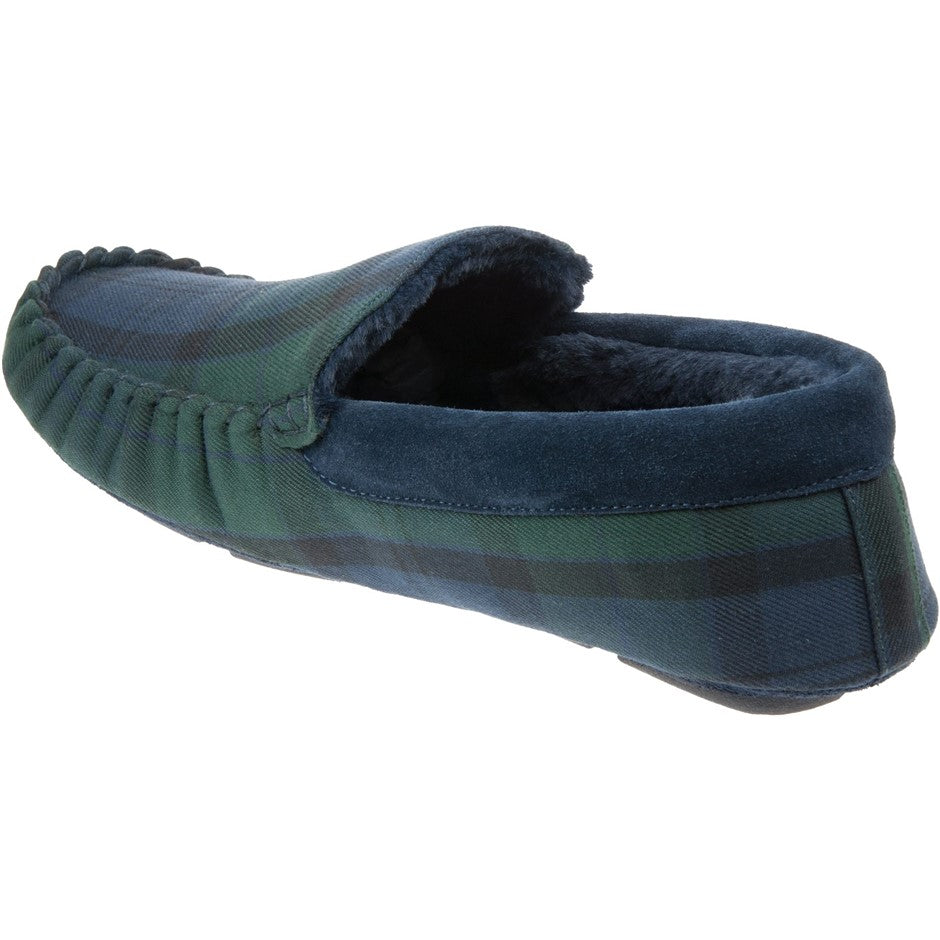 Monty Slippers in Black Watch Tartan