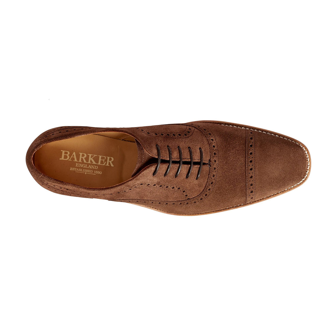 Luke Oxford Brogue Shoes for Men in Brown Suede