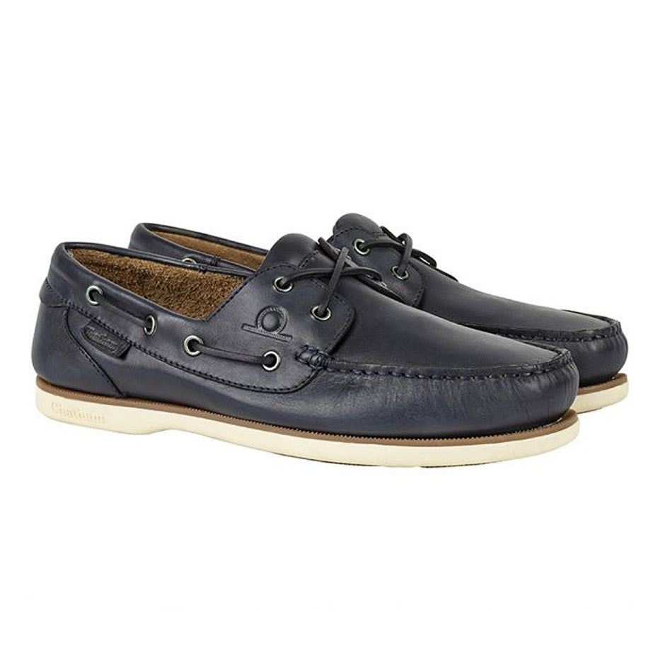 Newton Boat Shoes for Men in Navy