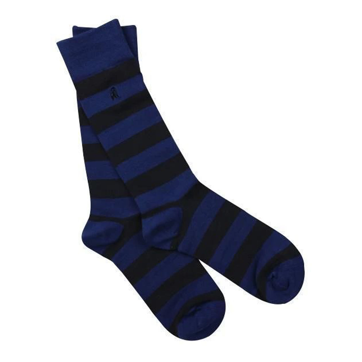 Striped Bamboo Socks for Men in Charcoal