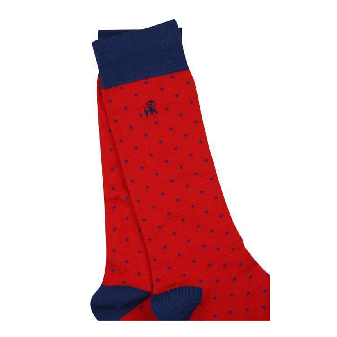 Spotted Bamboo Socks for Men in Red