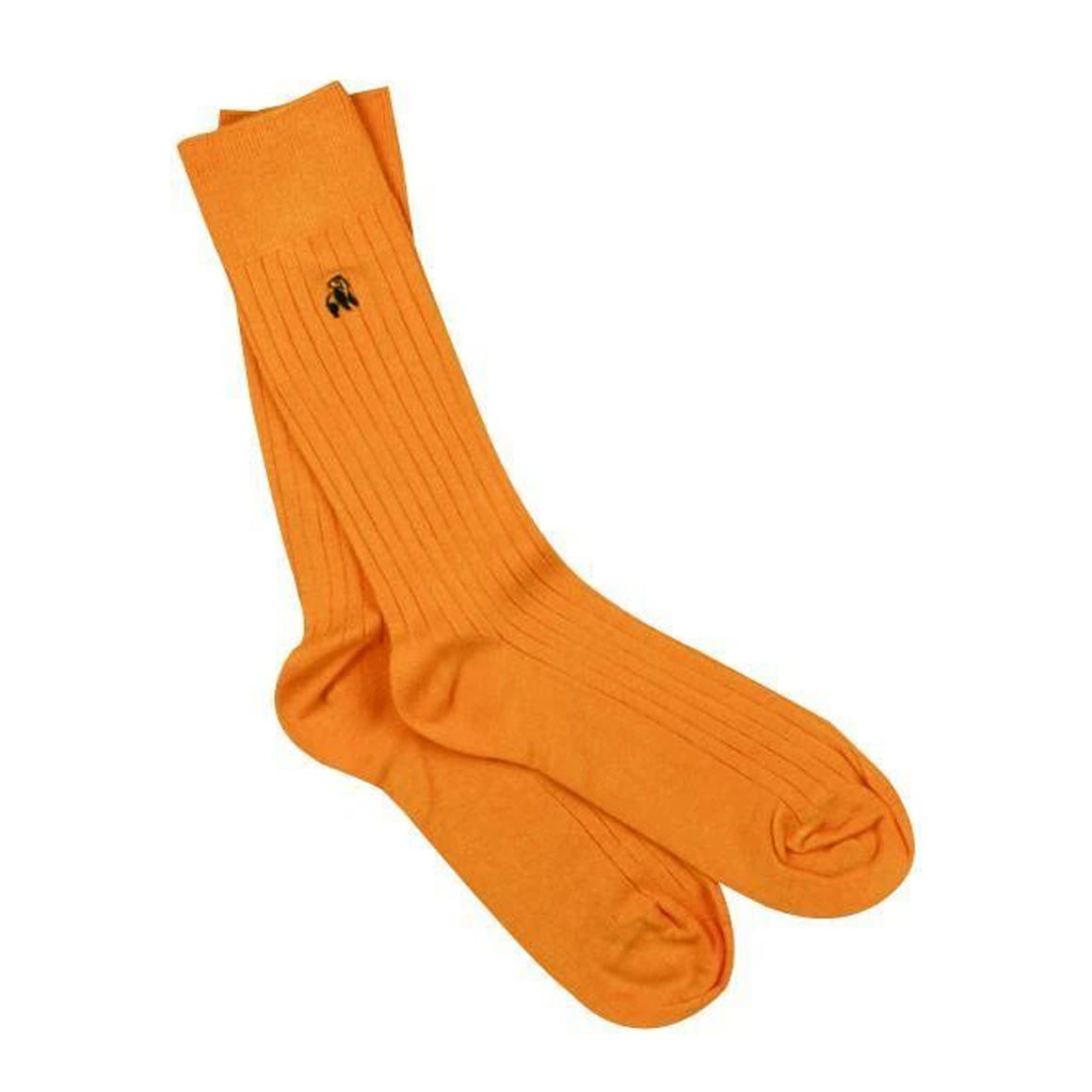 Bamboo Socks for Men in Tangerine Orange