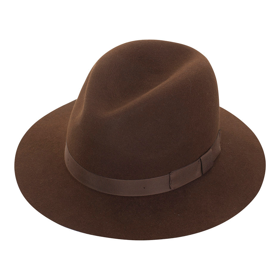 Crushable Felt Trilby for Men in Brown