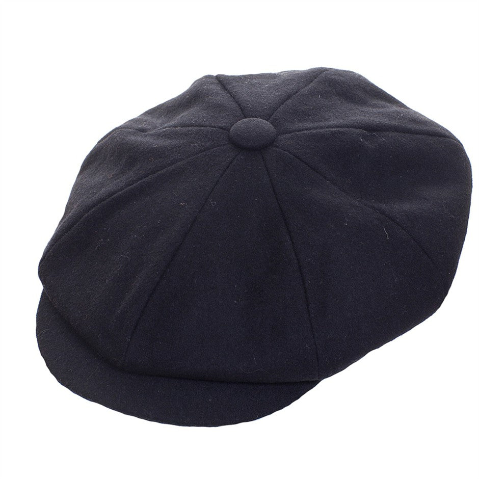Alfie 8 Piece Melton Cap for Men in Black