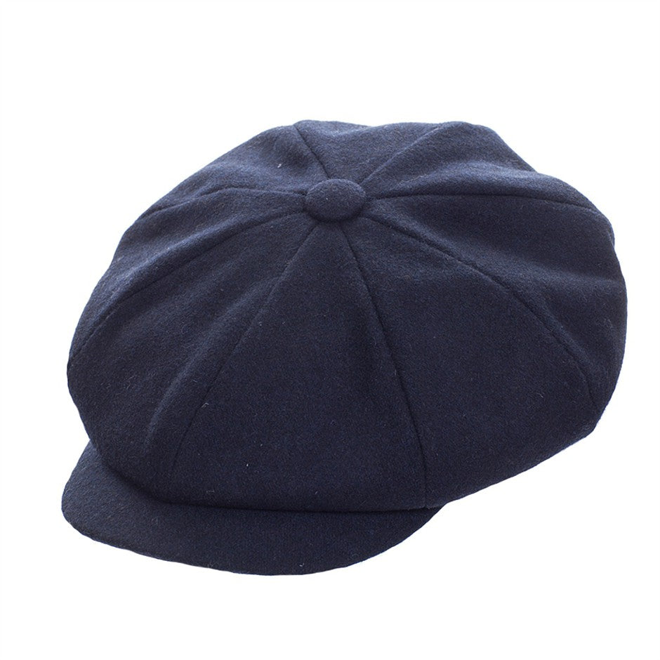 Alfie 8 Piece Melton Cap for Men in Navy