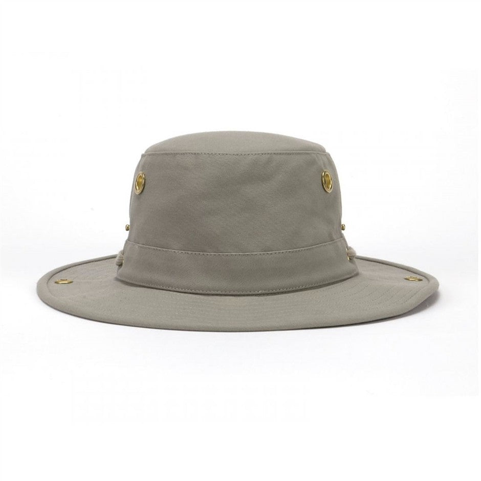 Snap-up Brim Unisex Hat in Khaki