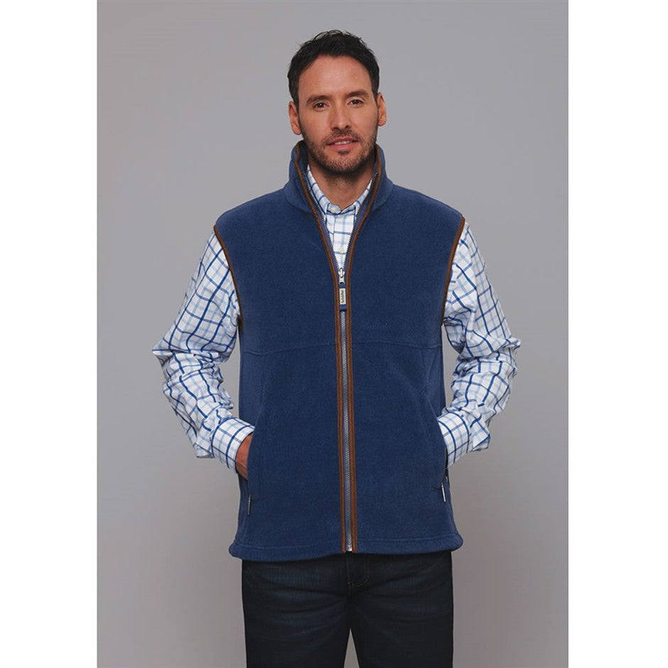 Oakham Fleece Gilet for Men in Cobalt