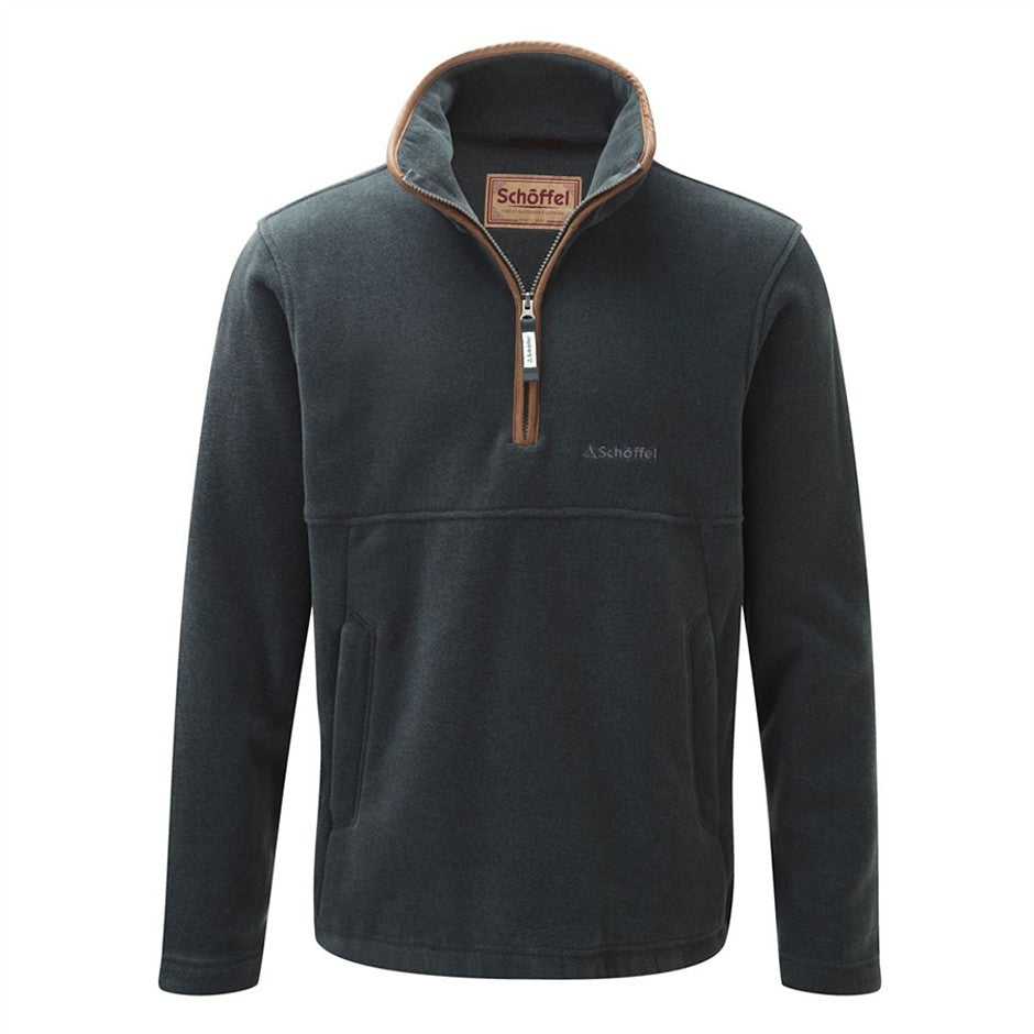 Berkeley Quarter Zip Fleece Top for Men in Kingfisher
