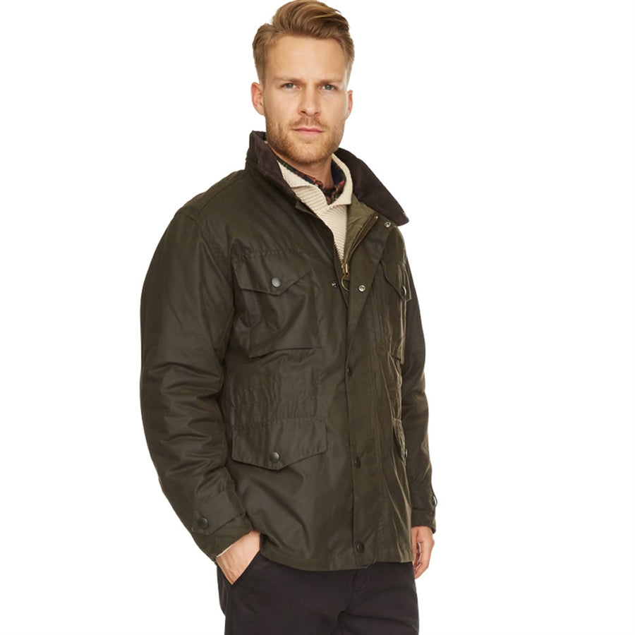 Sapper Waxed Jacket for Men in Olive