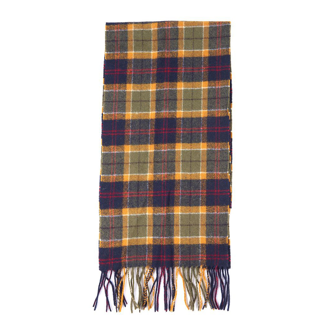 Tartan Scarf for Men in Green Navy/Red