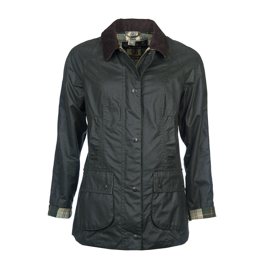Beadnell Waxed Jacket for Women in Sage