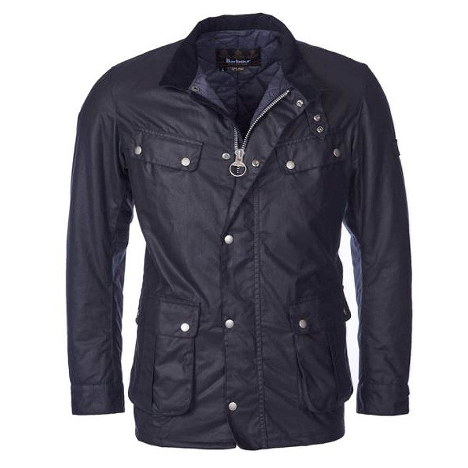 Duke Wax Jacket for Men in Navy