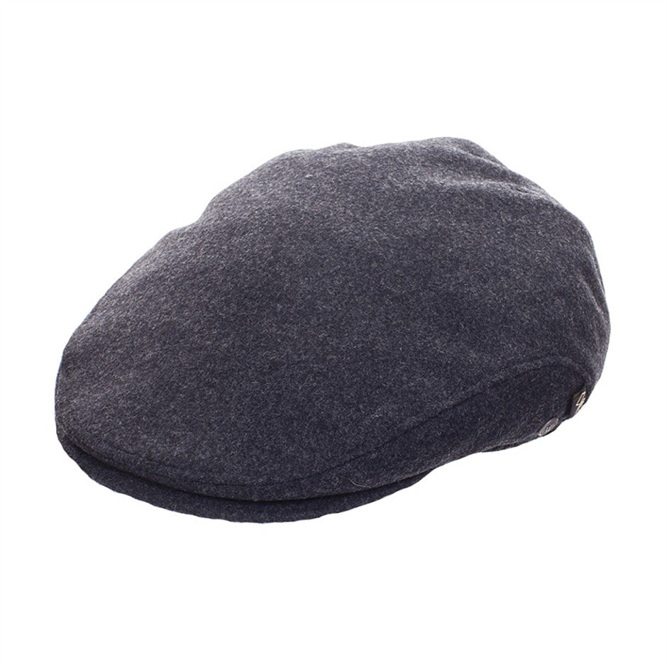 Flat Cap for Men in Charcoal