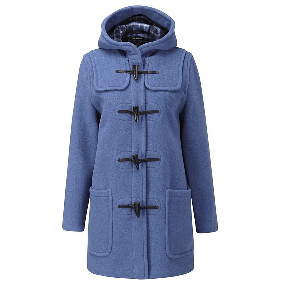 Style 435 Mid Length Duffle Coat for Women in Sky