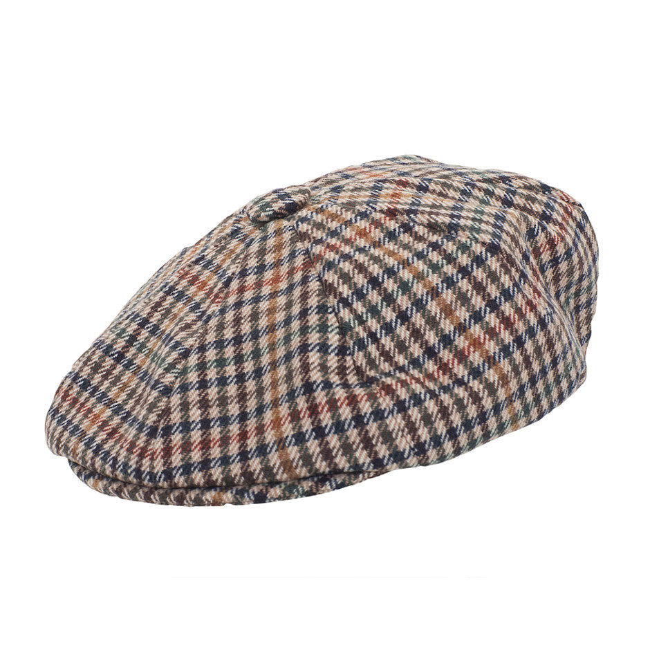 Redford Cap for Men in Beige Check