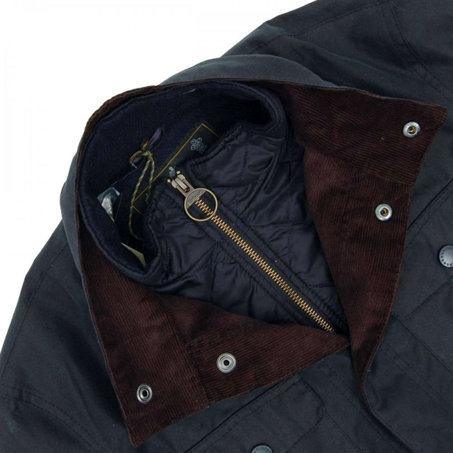 Ogston Wax Jacket for Men in Navy