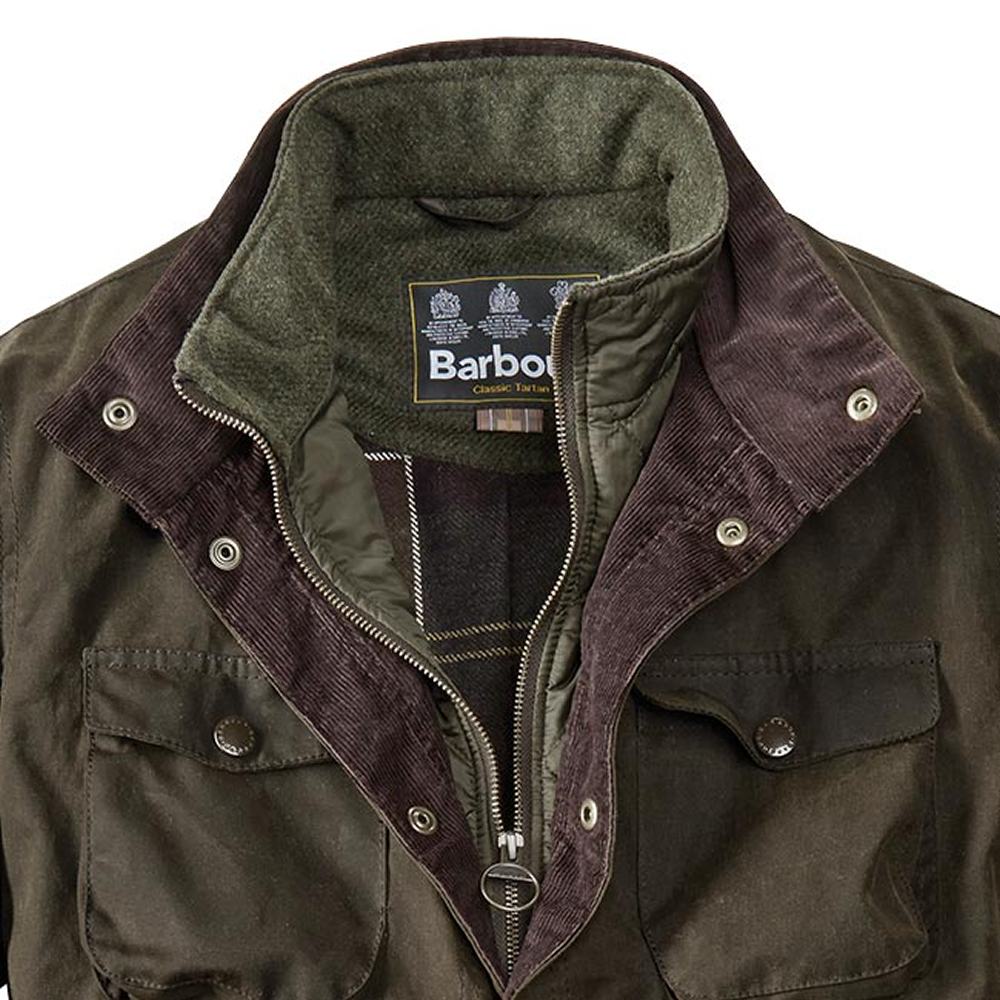 Ogston Wax Jacket for Men in Olive