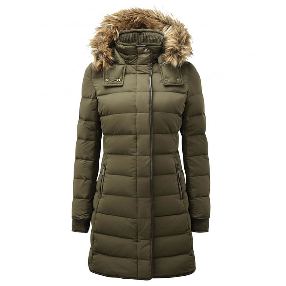 Mayfair Down Coat for Women in Olive