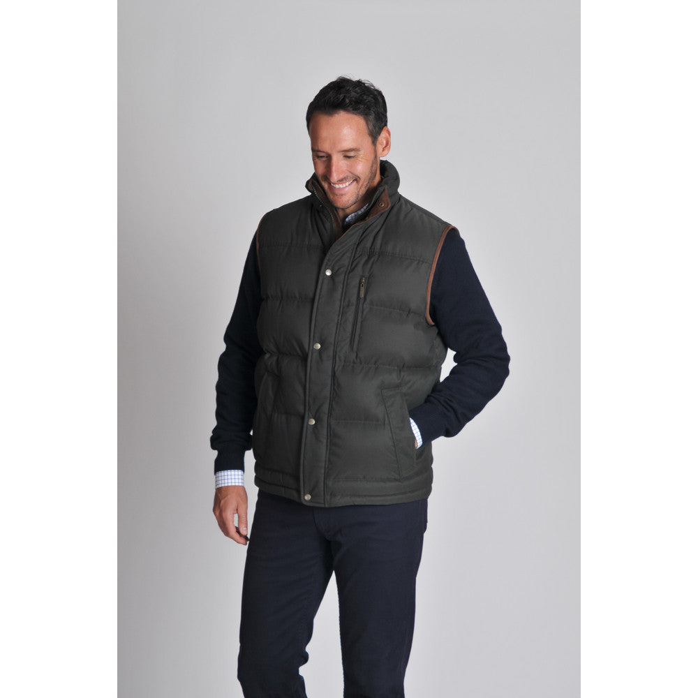 Richmond Down Gilet for Men in Dark Olive