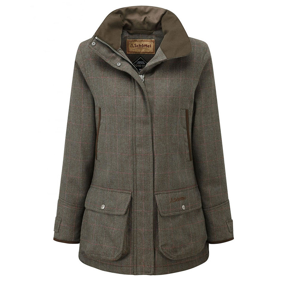 Ptarmigan Tweed Coat for Women in Cavell Tweed